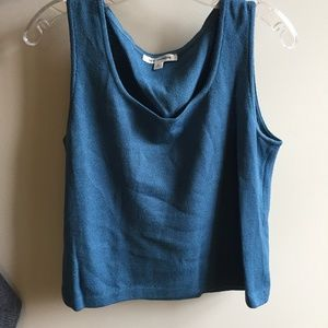 St. John Blue Knit Tank Top